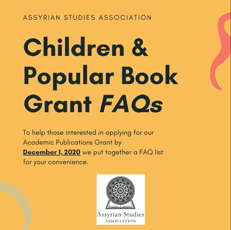 Assyrian Studies Association Children and Popular Book Grant – Dec. 1 2020